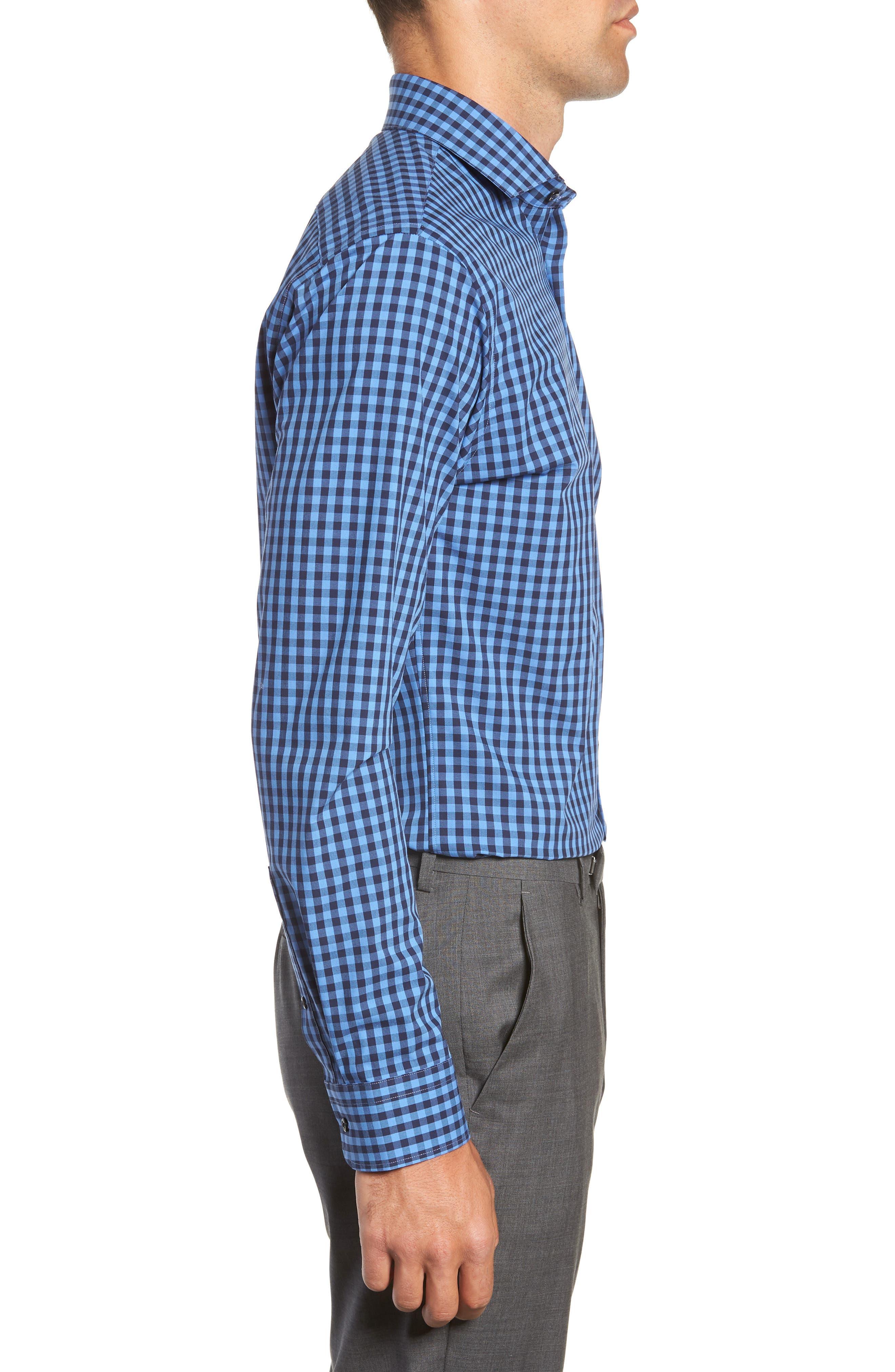 ,                             Tech-Smart Trim Fit Stretch Check Dress Shirt,                             Alternate thumbnail 36, color,                             455