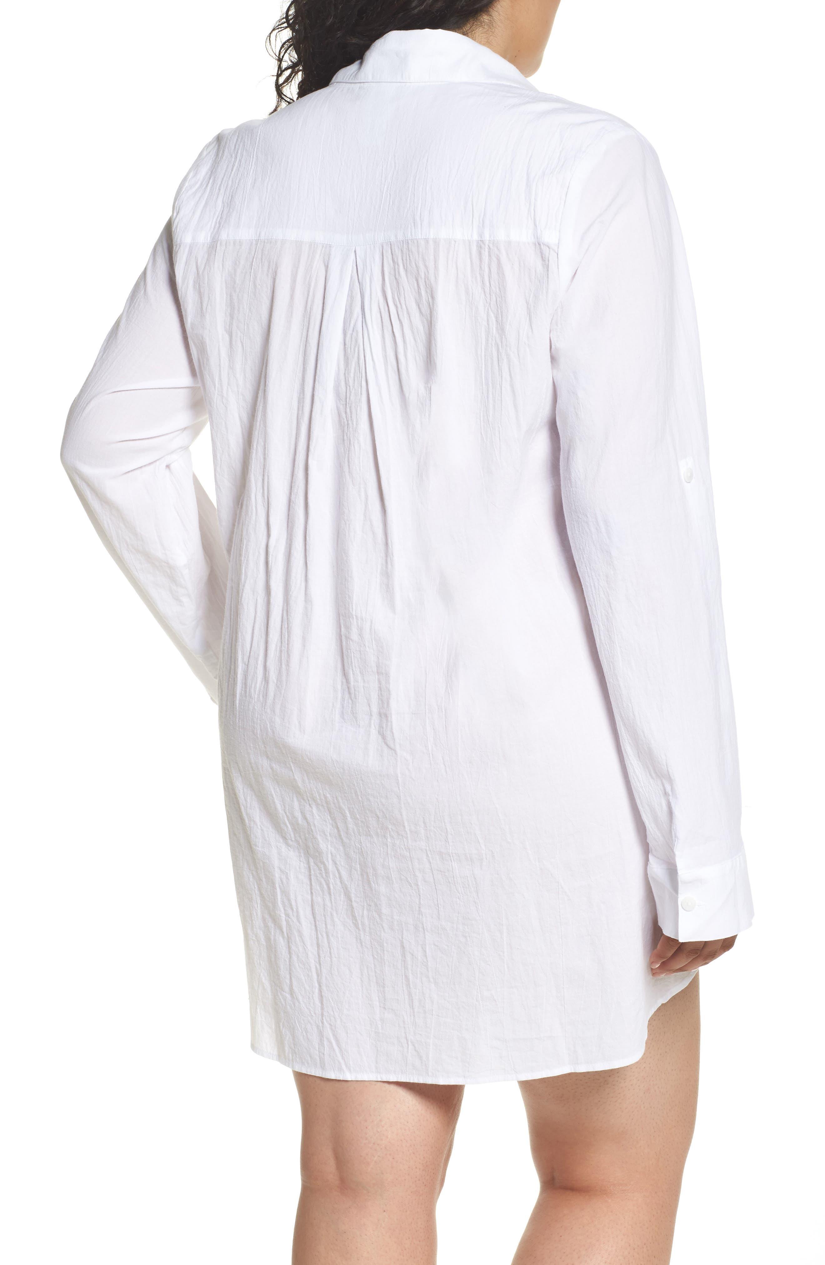 ,                             Boyfriend Shirt Cover-Up,                             Alternate thumbnail 2, color,                             WHITE