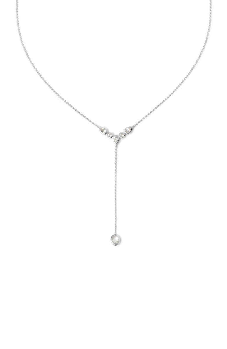 ANZIE Classic White Topaz Y-Necklace, Main, color, WHITE TOPAZ