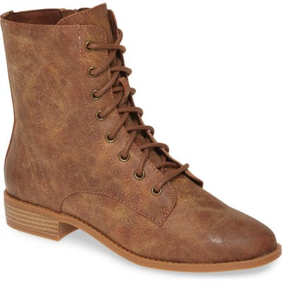Bc Footwear Girl Power Vegan Lace-Up Boot, Brown