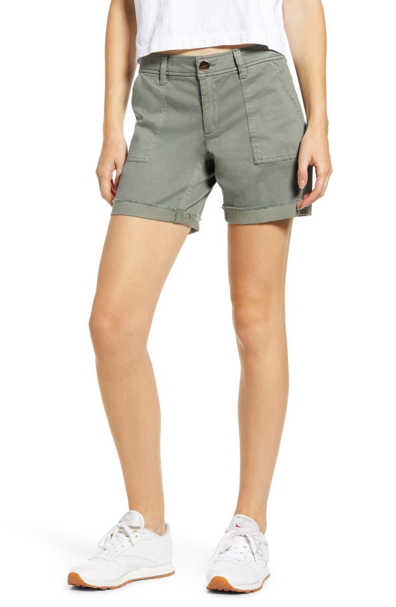 TINSEL Bermuda Shorts, Main, color, MOSS