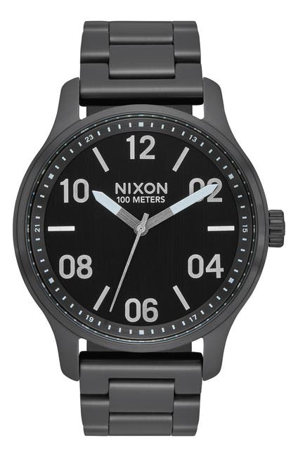 Image of Nixon Men's Patrol Quartz Bracelet Watch, 44mm