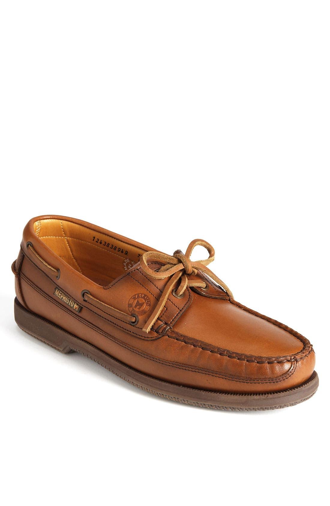 'Hurrikan' Boat Shoe, Main, color, RUST