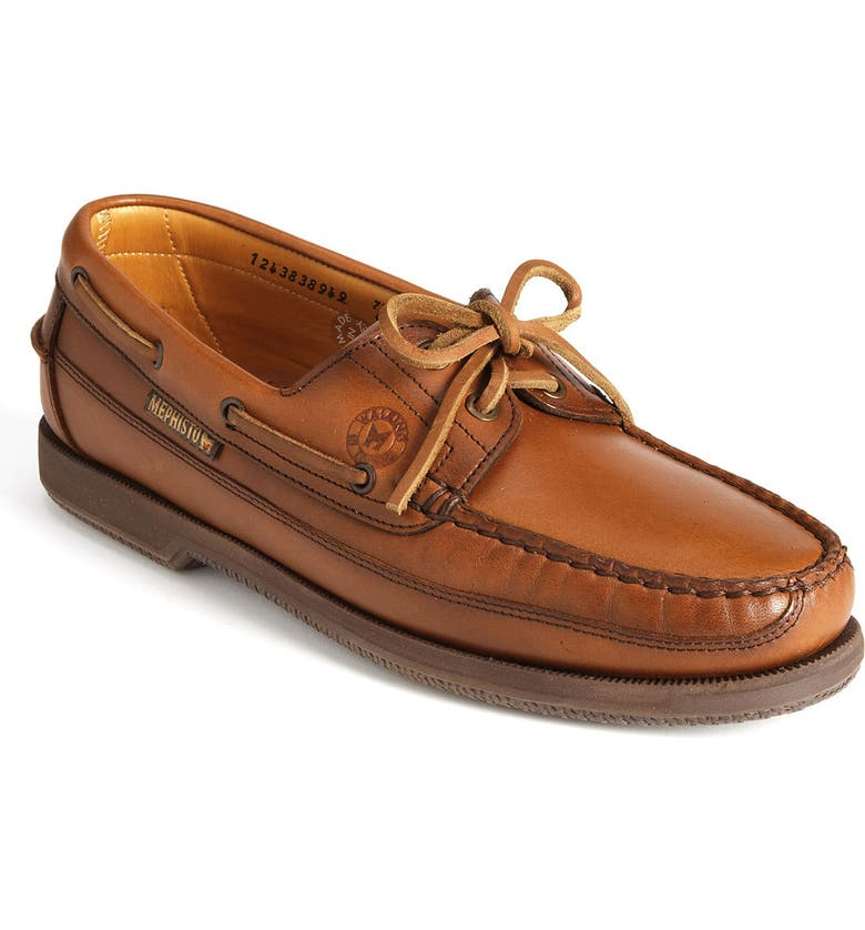 MEPHISTO 'Hurrikan' Boat Shoe, Main, color, RUST