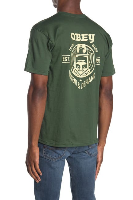 Image of Obey Dissent Defiance Eagle T-Shirt