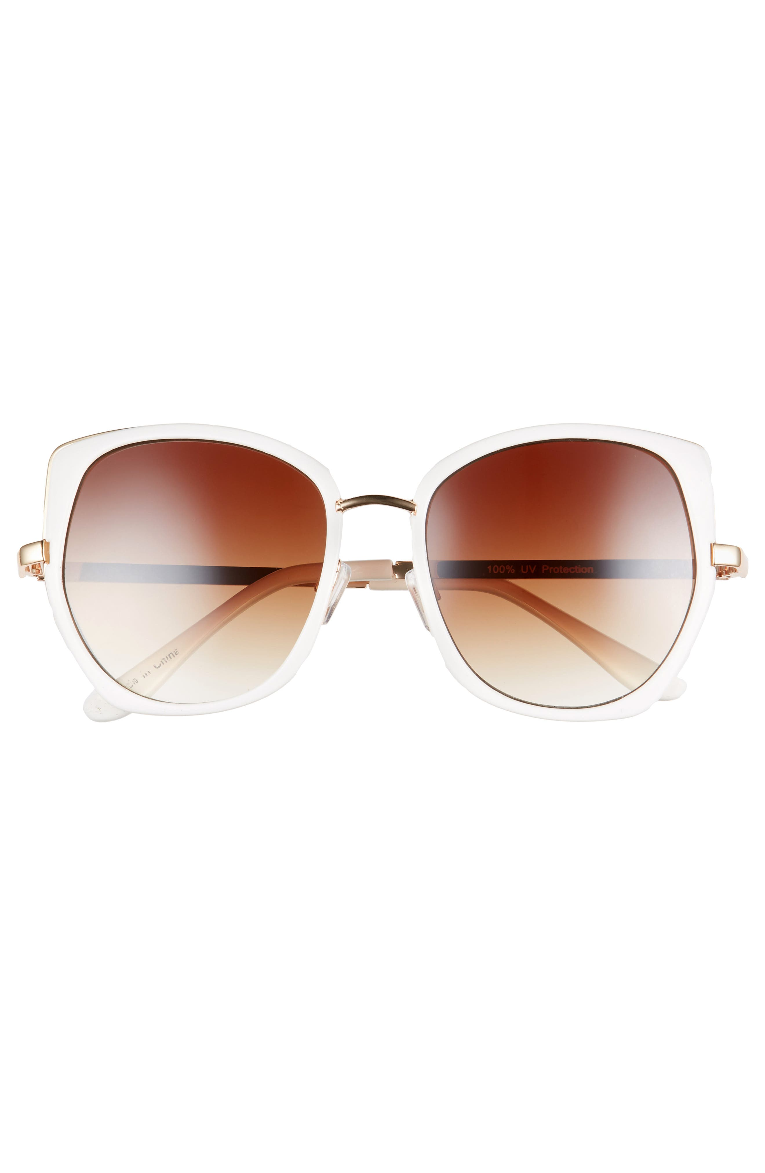 ,                             Leith 60mm Square Sunglasses,                             Alternate thumbnail 3, color,                             110