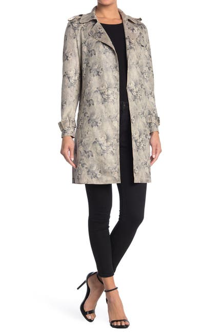 Image of Love Token Jacob Floral Print Trench Jacket