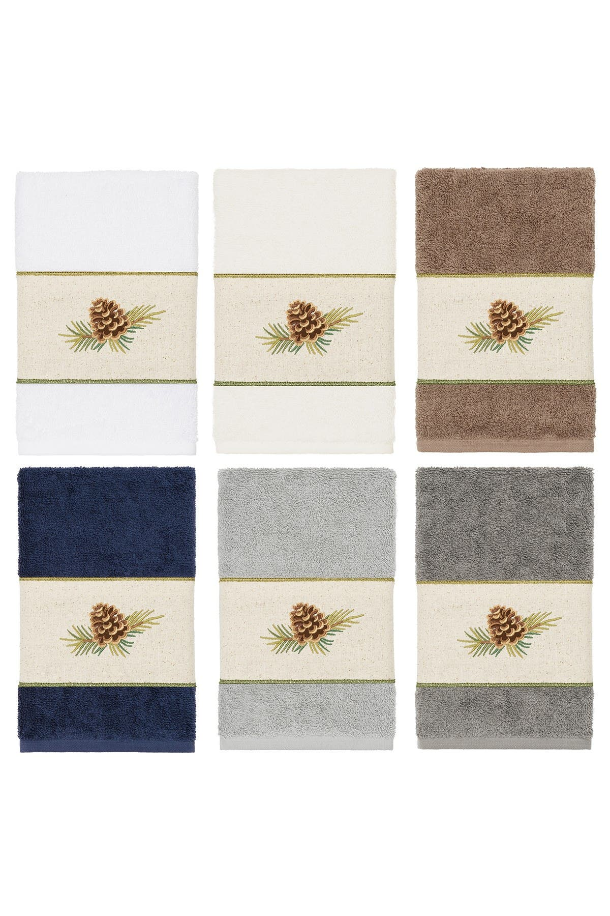 Image of LINUM HOME Pierre Embellished Hand Towel - Cream