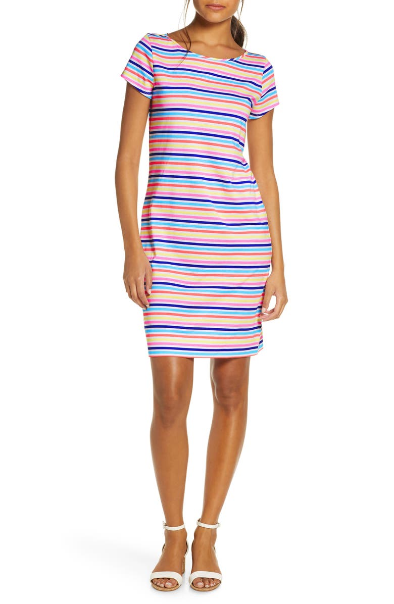 LILLY PULITZER<SUP>®</SUP> Marlowe Horizontal Stripe T-Shirt Dress, Main, color, MULTI ISLAND STRIPE