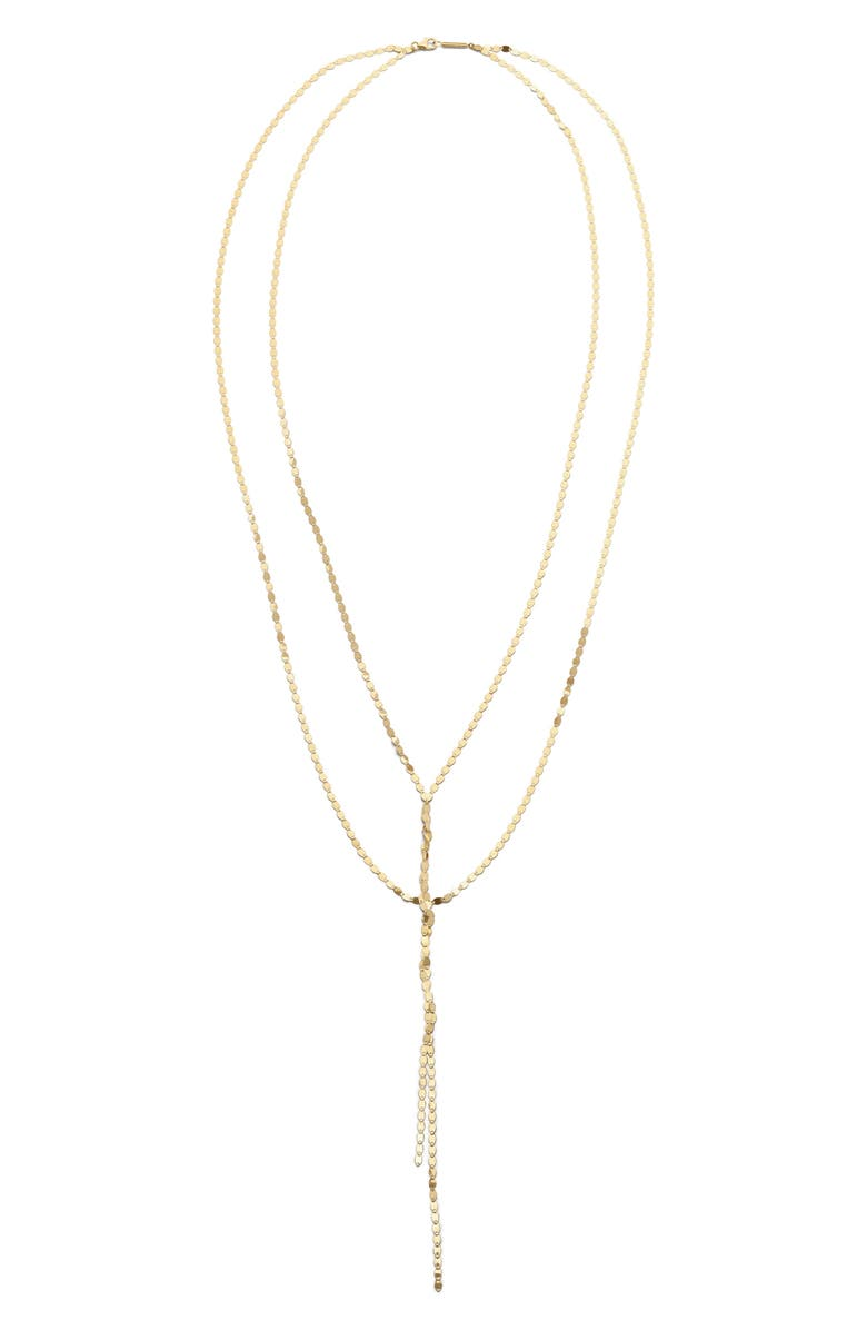 LANA JEWELRY Blake Y-Necklace, Main, color, YELLOW GOLD