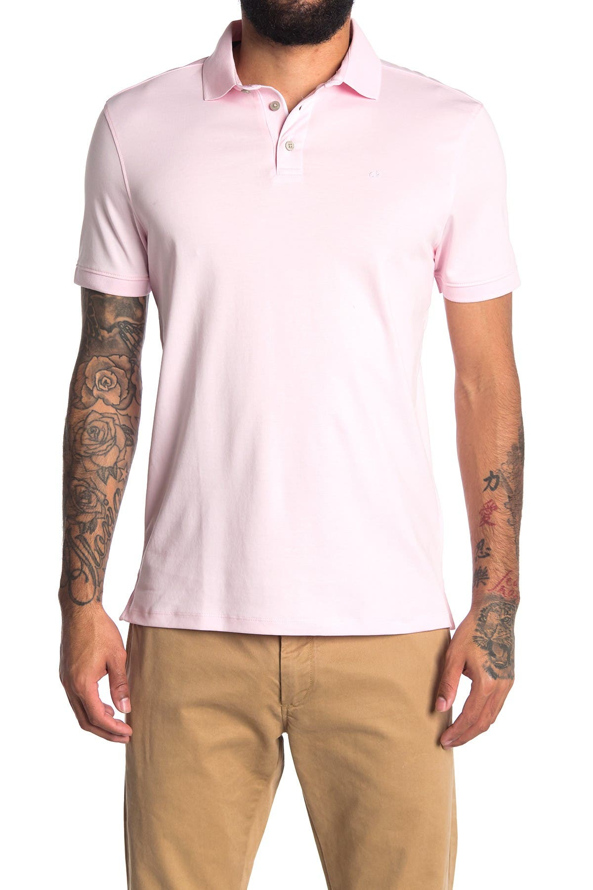 Image of Calvin Klein The Liquid Touch Solid Polo