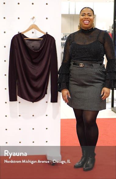 Celeste Cowl Neck Merino Wool Sweater, sales video thumbnail