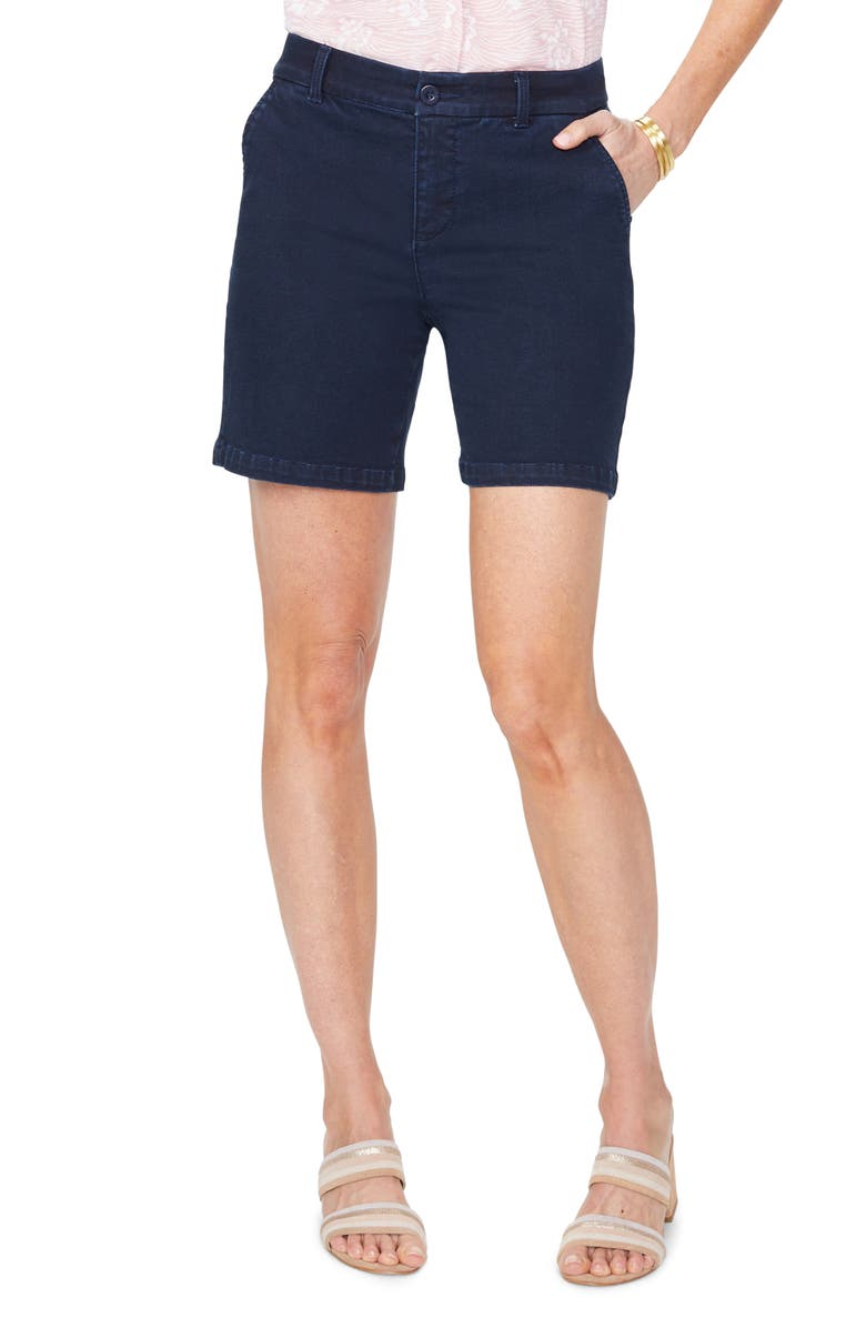 NYDJ Relaxed Fit Stretch Denim Shorts, Main, color, 400
