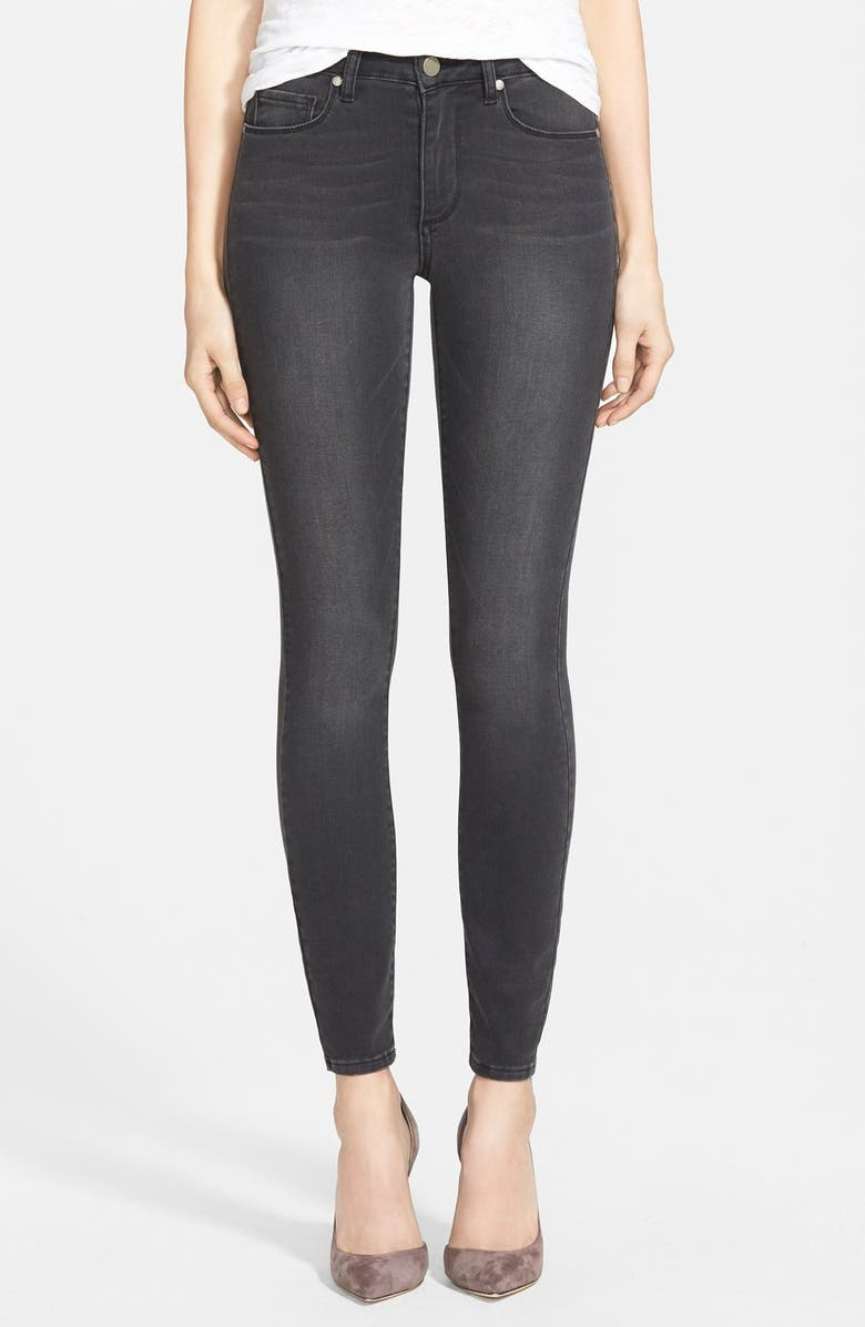 PAIGE Denim 'Hoxton' Ultra Skinny Jeans, Main, color, 001