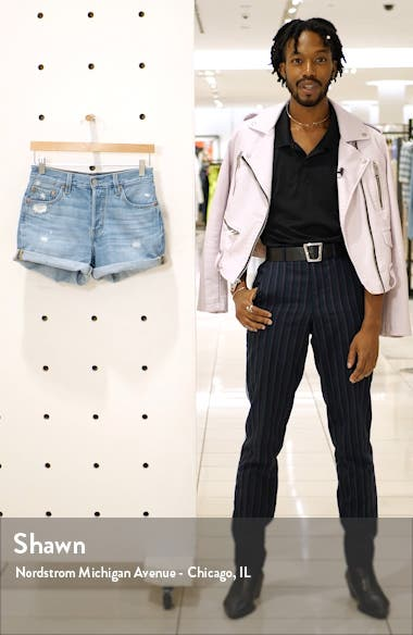 501<sup>®</sup> Cuff Long Denim Shorts, sales video thumbnail