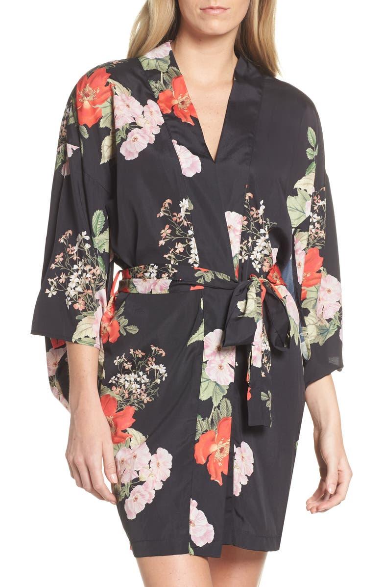 MAISON DU SOIR Tokyo Short Robe, Main, color, 001