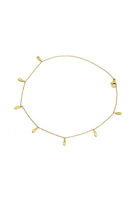 Image of Savvy Cie 18K Gold Plated Drop Anklet