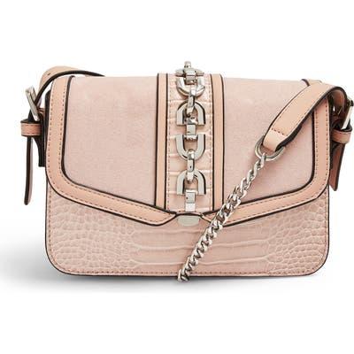 Topshop Casey Chain Crossbody Bag - Beige