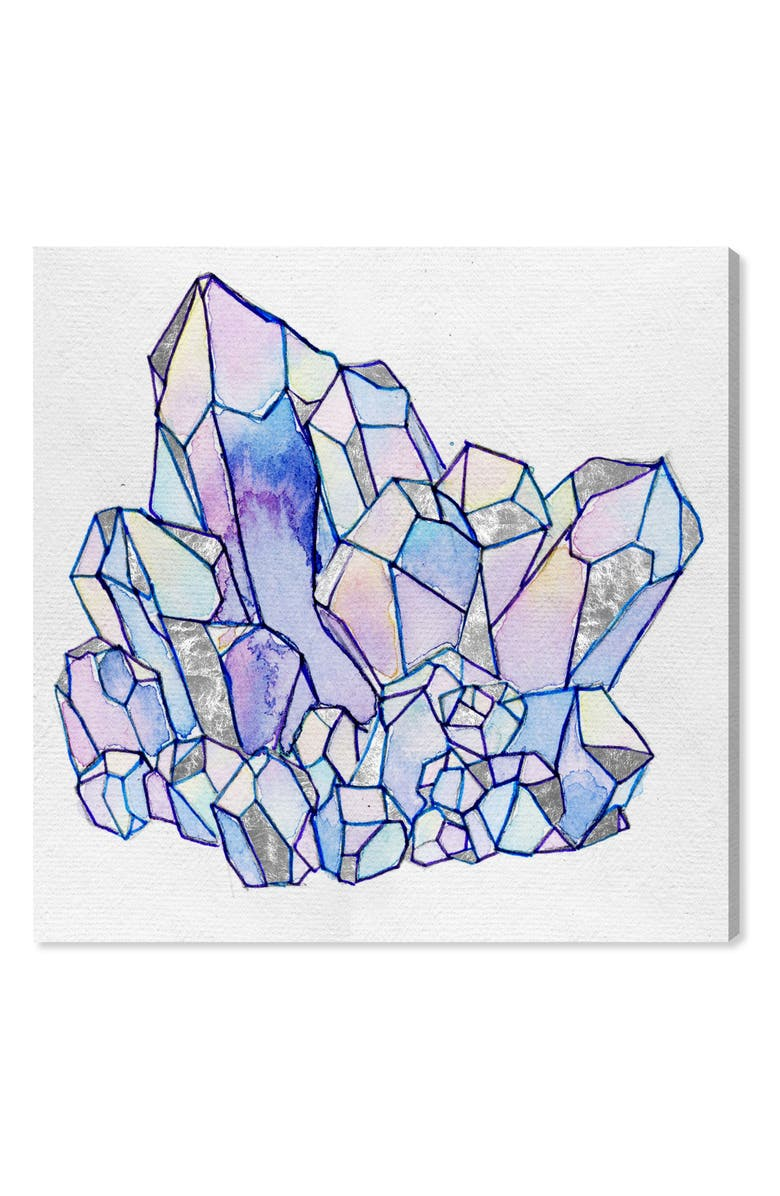 OLIVER GAL Precious Stone Cluster II Canvas Wall Art, Main, color, PURPLE
