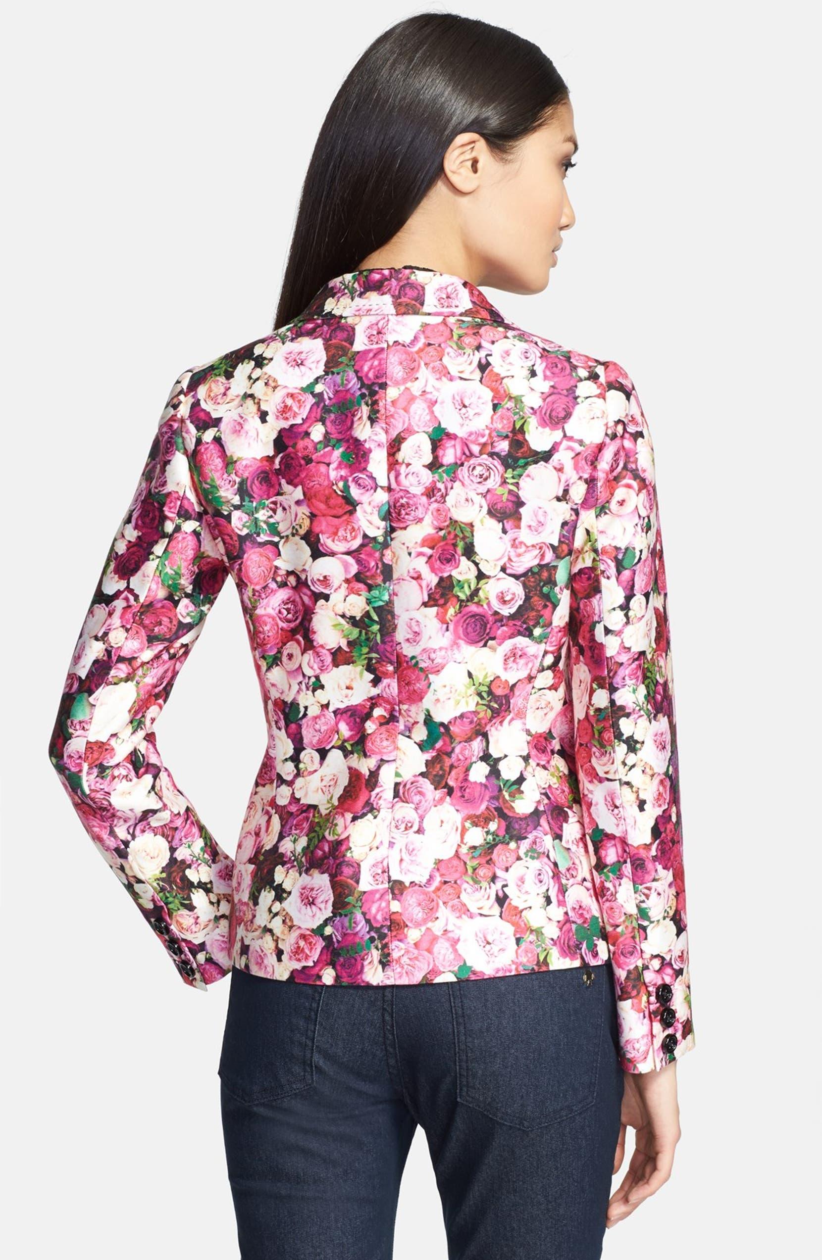 dbee1f32 kate spade new york 'millie' rose print blazer | Nordstrom