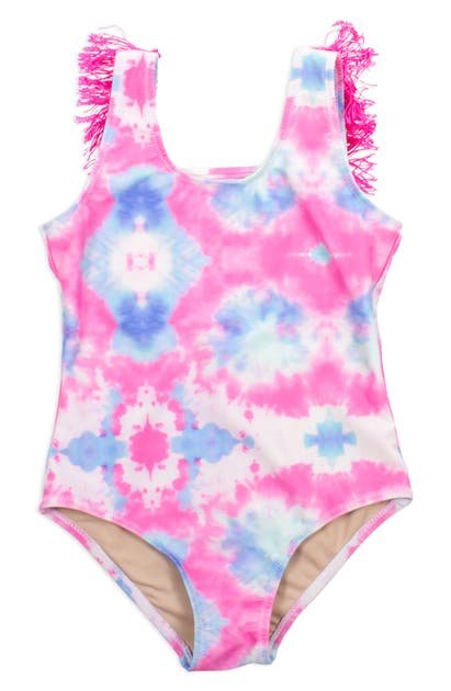 Shade Critters Cottons KIDS' TIE DYE ONE-PIECE SWIMSUIT