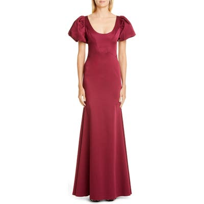 Zac Zac Posen Erin Scoop Neck Gown, Red