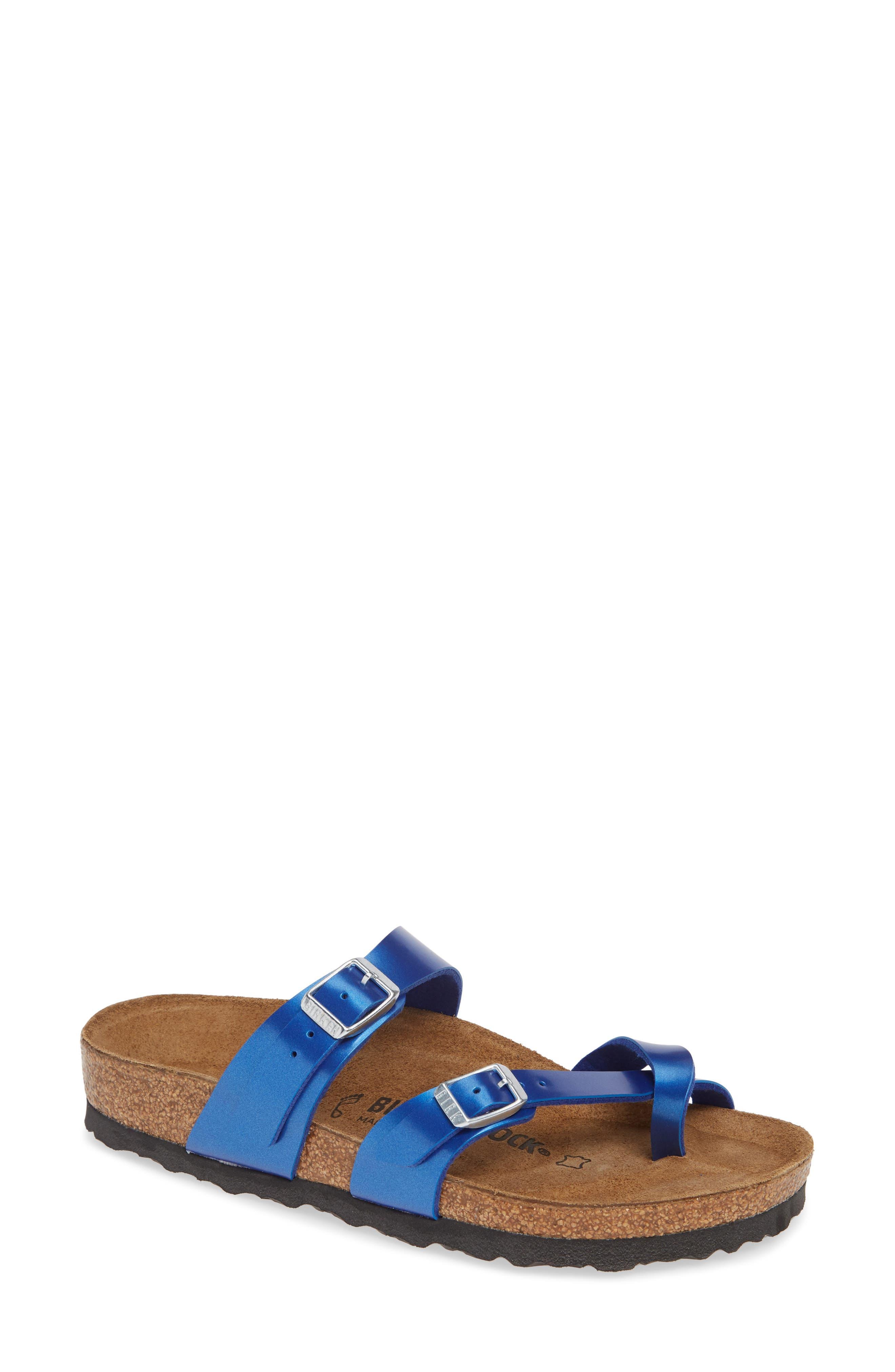 Birkenstock Mayari Slide Sandal,8.5 B - Blue