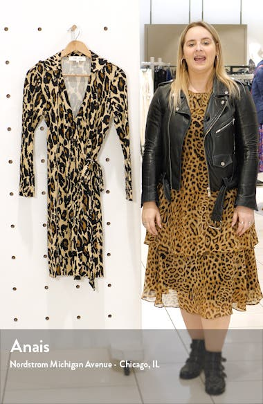 New Jeanne Two Long Sleeve Silk Wrap Dress, sales video thumbnail