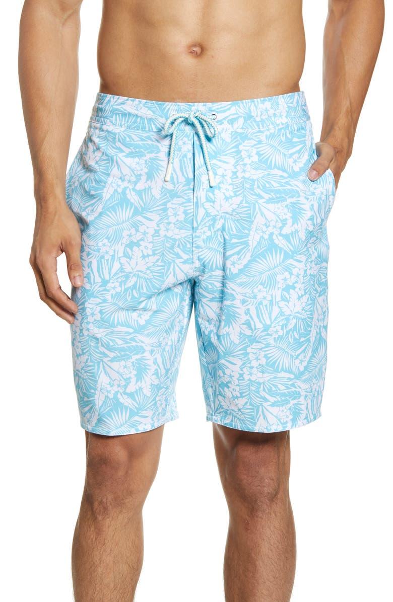 JOHNNIE-O Caneel Floral Swim Trunks, Main, color, 425
