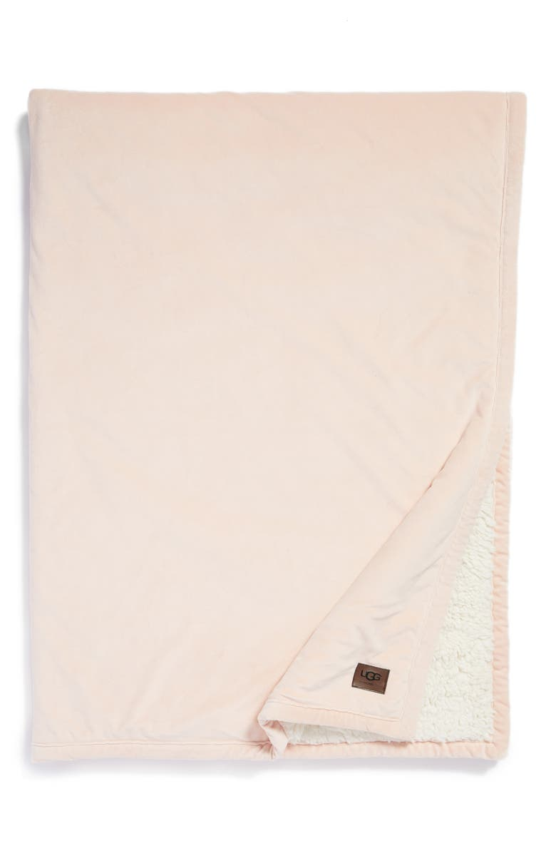 UGG<SUP>®</SUP> Bliss Fuzzy Throw, Main, color, QUARTZ