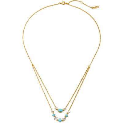 Nadri Issa Layered Stone Necklace