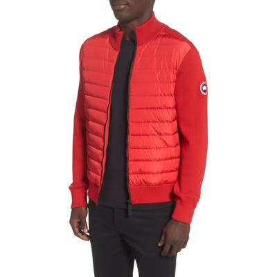 Canada Goose Hybridge 675 Fill Power Down Jacket, Red