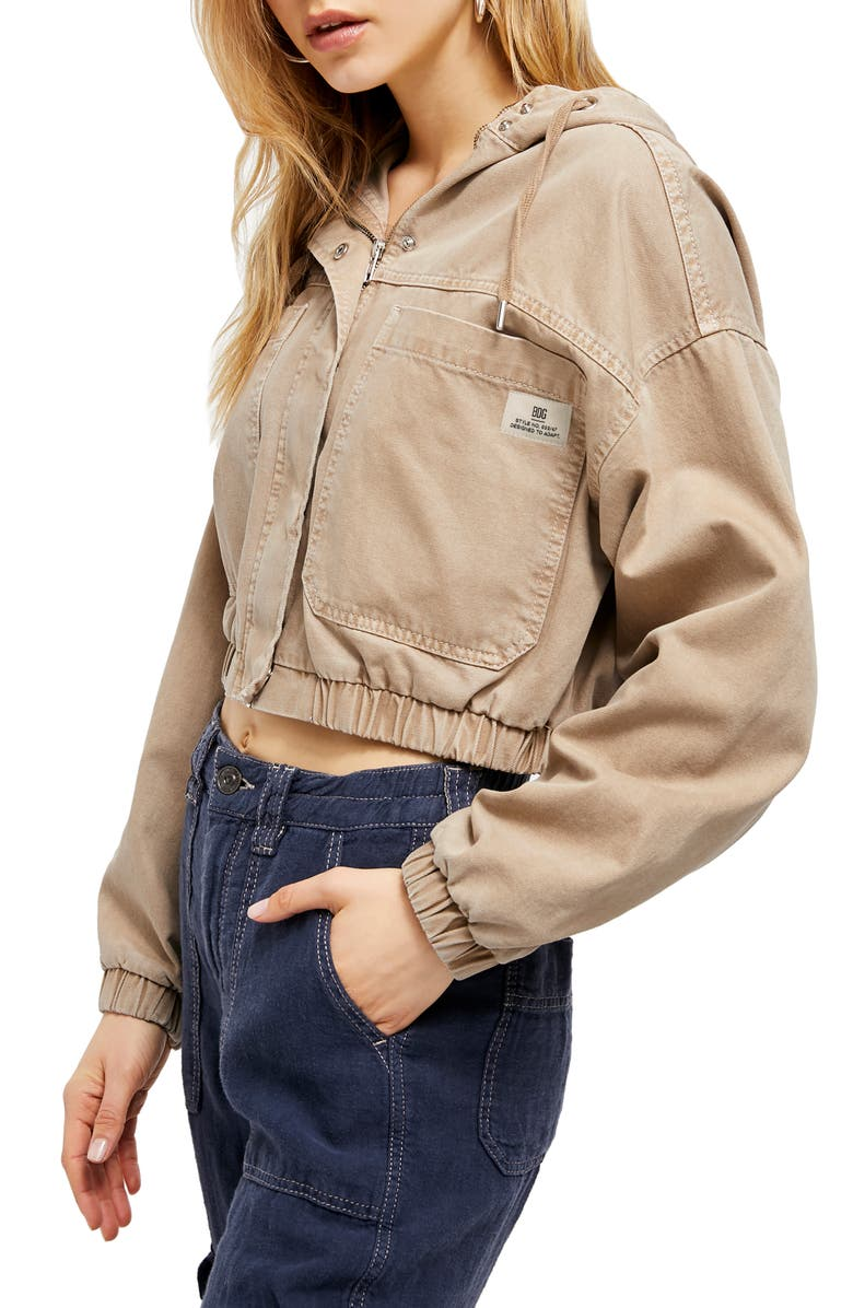 BDG URBAN OUTFITTERS Jared Crop Utility Jacket, Main, color, 250