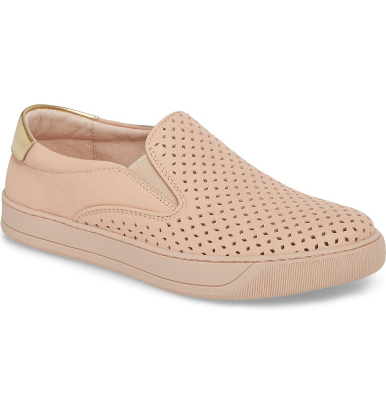 JOHNSTON & MURPHY Elaine Slip-On Sneaker, Main, color, PINK LEATHER