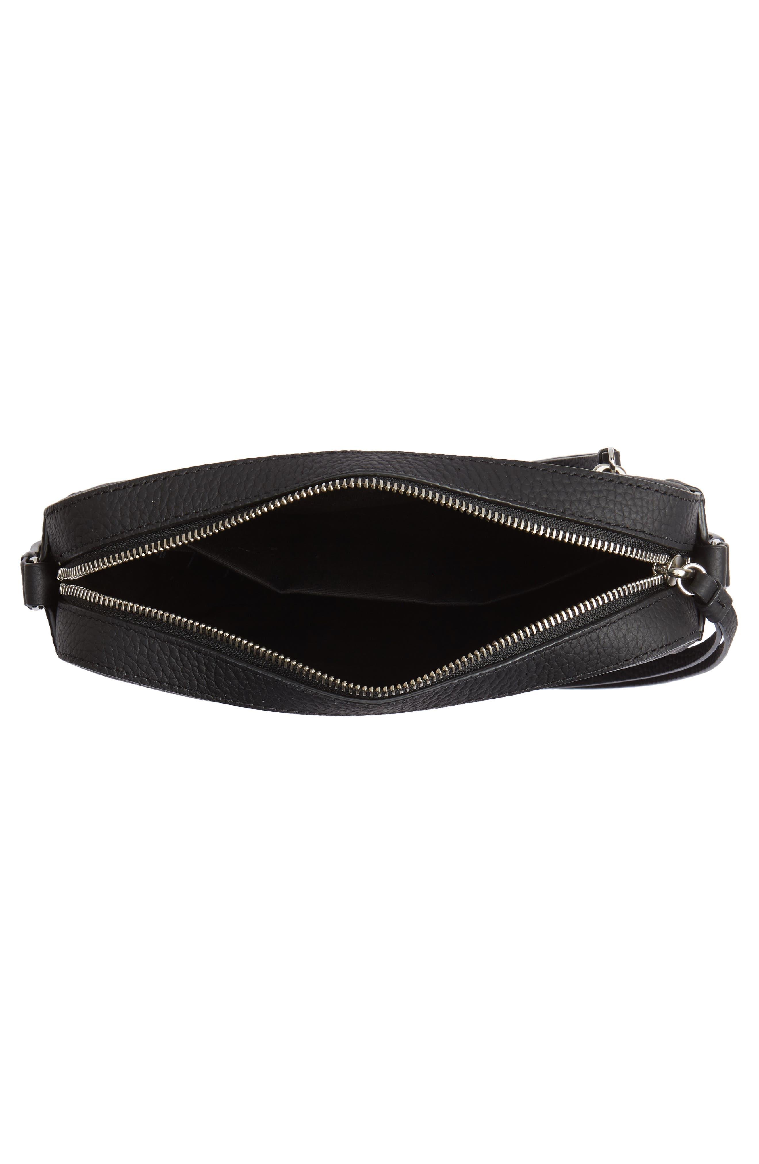 ,                             Kepi Mini Leather Crossbody Bag,                             Alternate thumbnail 5, color,                             BLACK