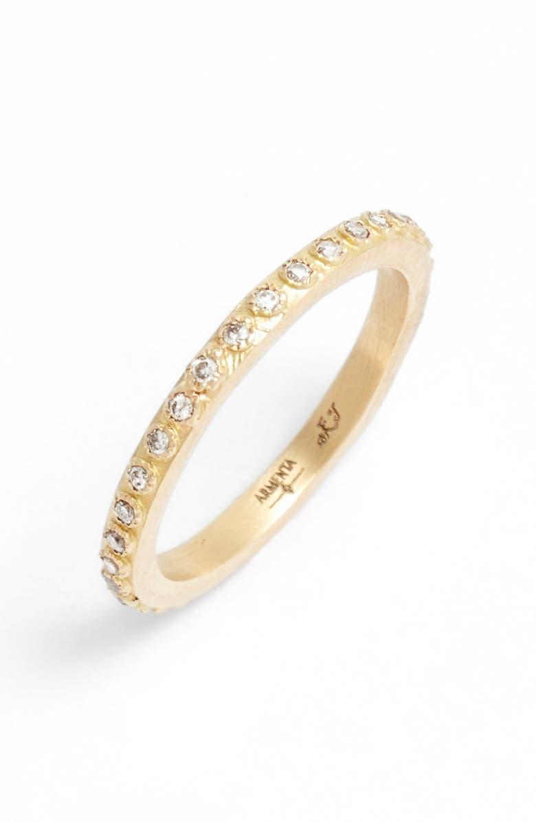 ARMENTA Sueño Champagne Diamond Band Ring, Main, color, 710