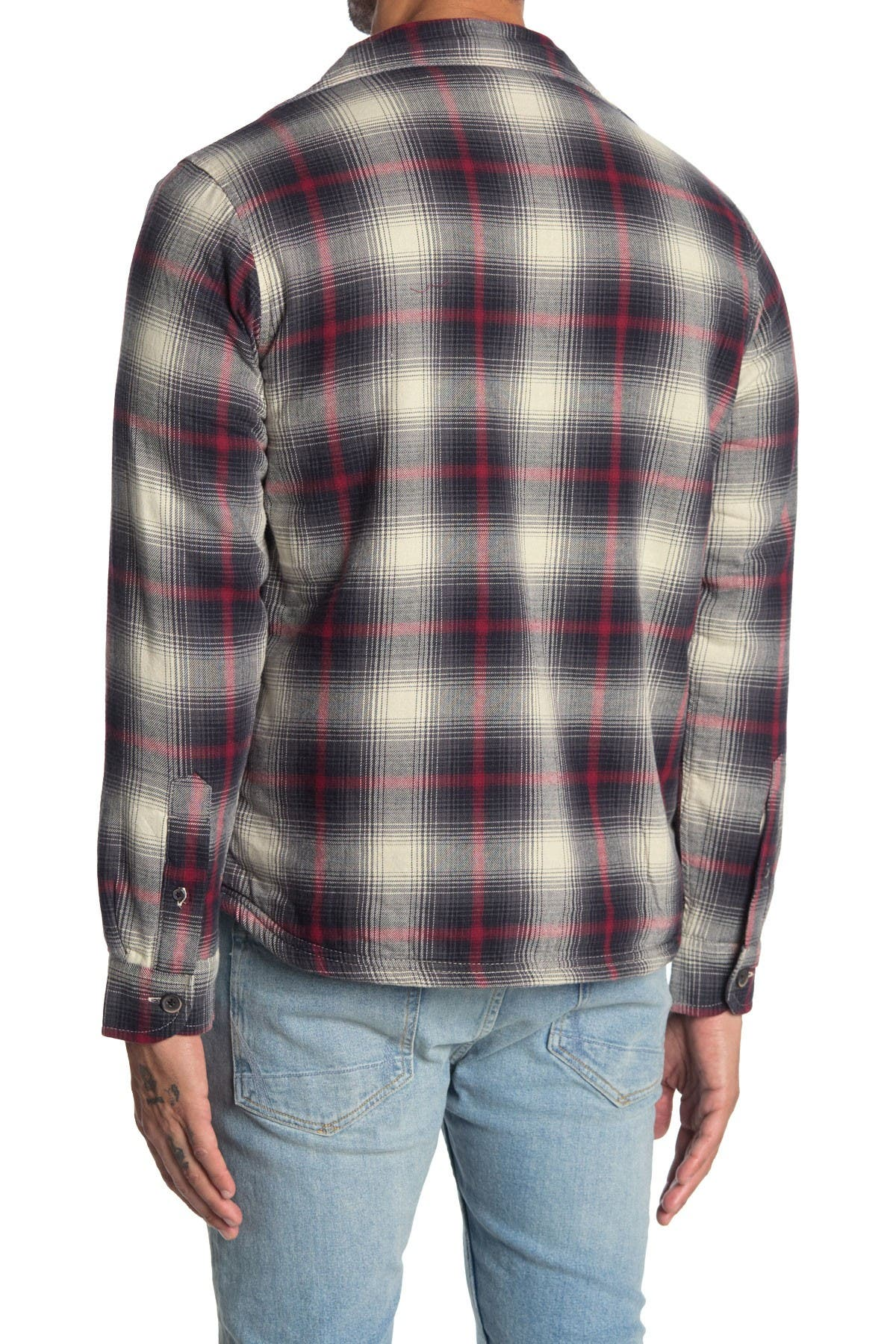Image of Tailor Vintage Faux Shearling Lined Plaid Shirt Jacket