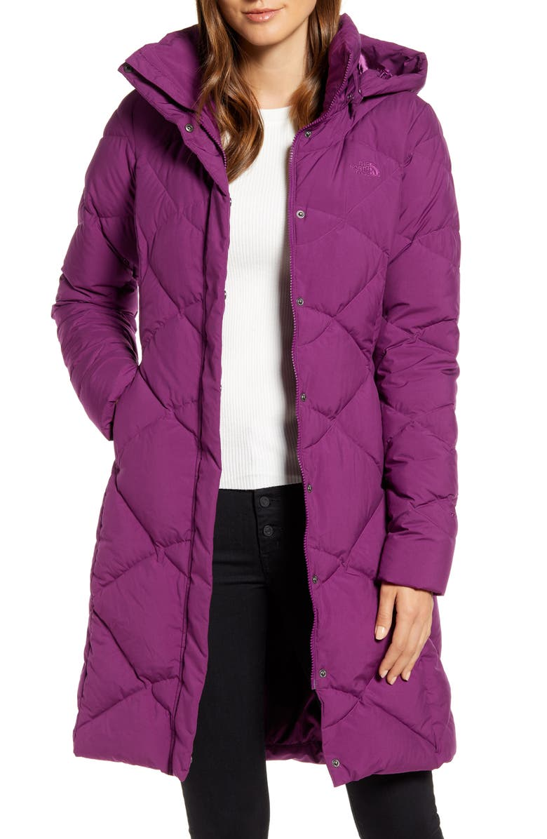 THE NORTH FACE Miss Metro II Water Repellent Hooded Parka, Main, color, PHLOX PURPLE