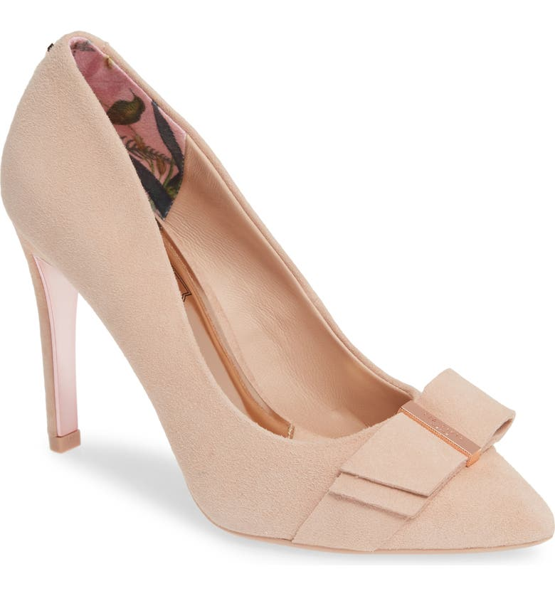 TED BAKER LONDON Anikai Pump, Main, color, NUDE PINK SUEDE