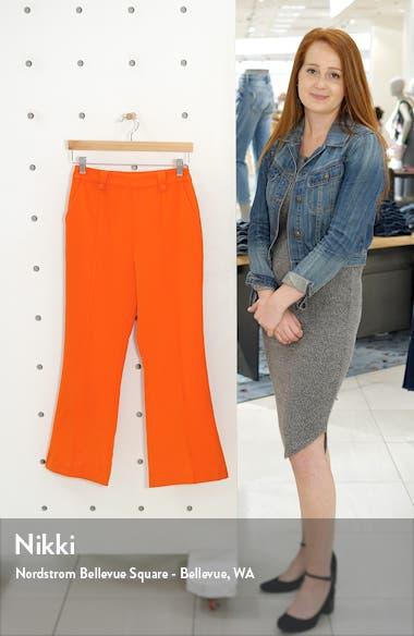 Button Detail Center Seam Flare Crop Trousers, sales video thumbnail