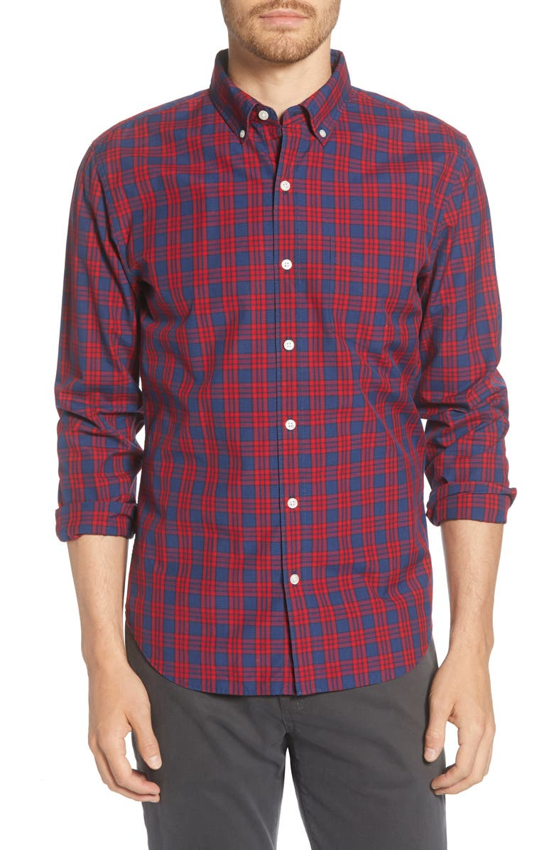 BONOBOS Slim Fit Plaid Button-Down Shirt, Main, color, 600