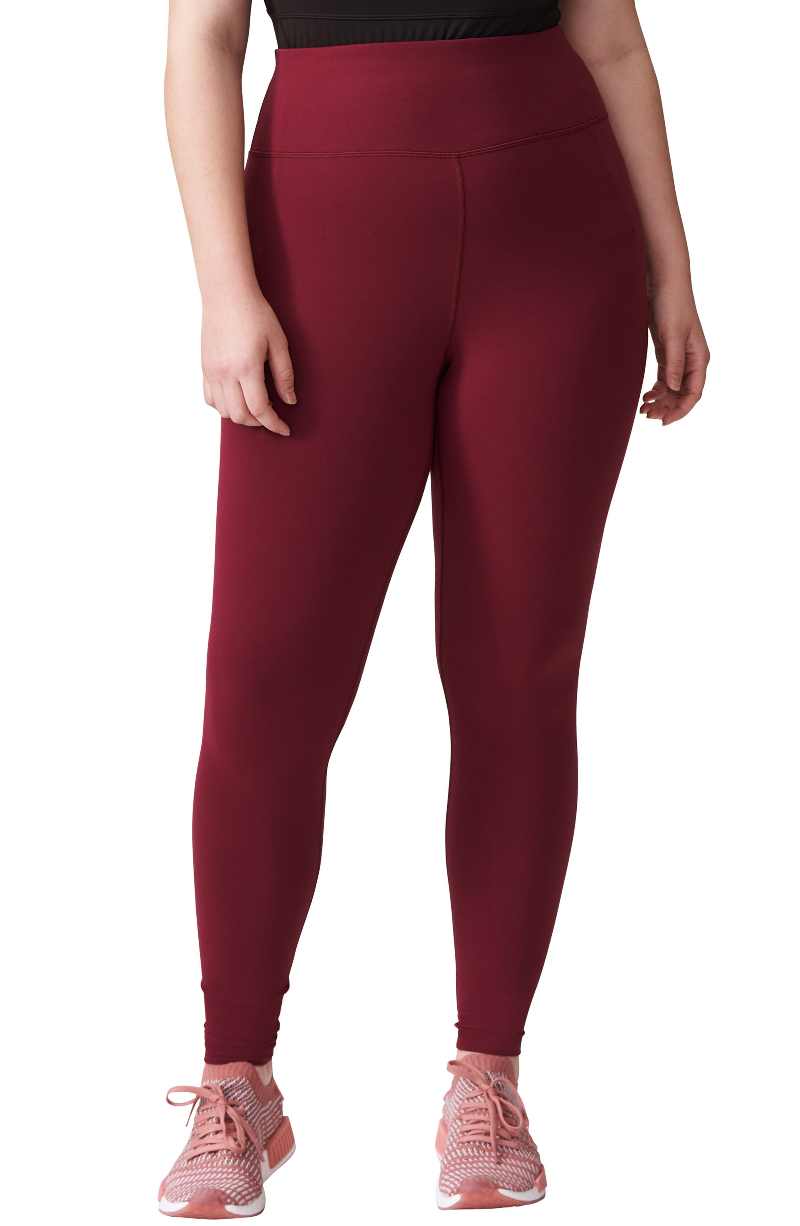 Plus Size Universal Standard Core Leggings, XL (30W-3) - Red