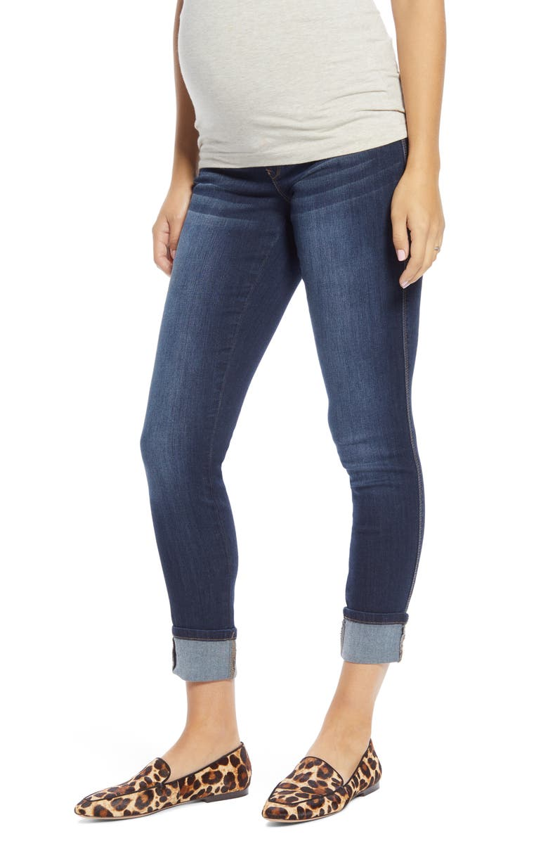 1822 DENIM Roll Cuff Skinny Maternity Jeans, Main, color, GIOVANNA