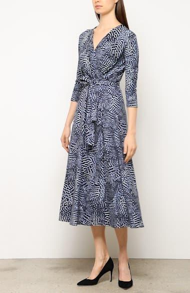 Acume Print Faux Wrap Dress, video thumbnail