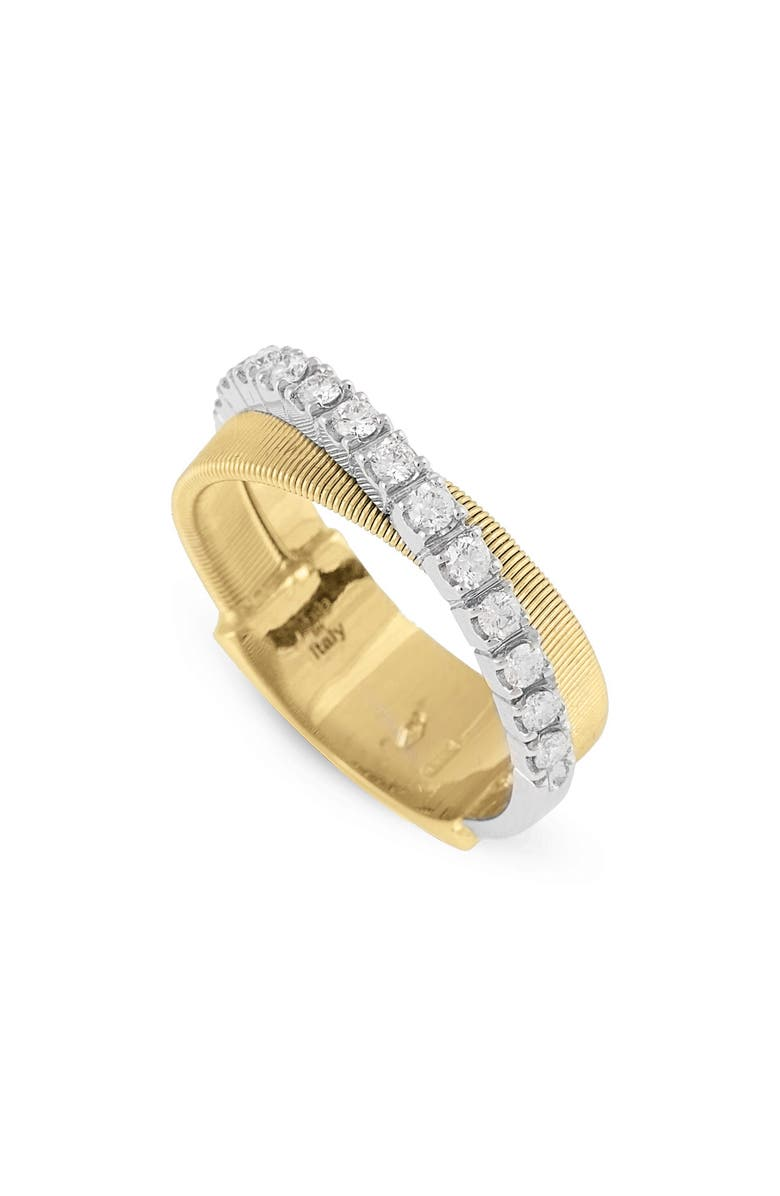 MARCO BICEGO Masai Two-Tone Diamond Ring, Main, color, YELLOW GOLD/ WHITE GOLD