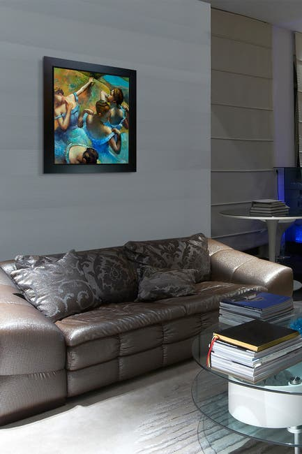 Image of Overstock Art Blue Dancers - Framed Oil Reproduction of an Original Painting by Edgar Degas