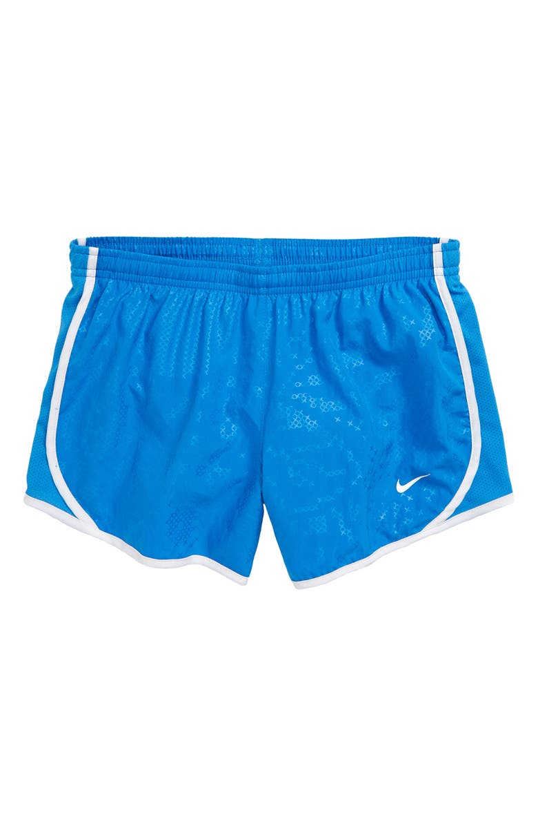NIKE Tempo Dri-FIT Print Running Shorts, Main, color, LIGHT PHOTO BLUE/ WHITE