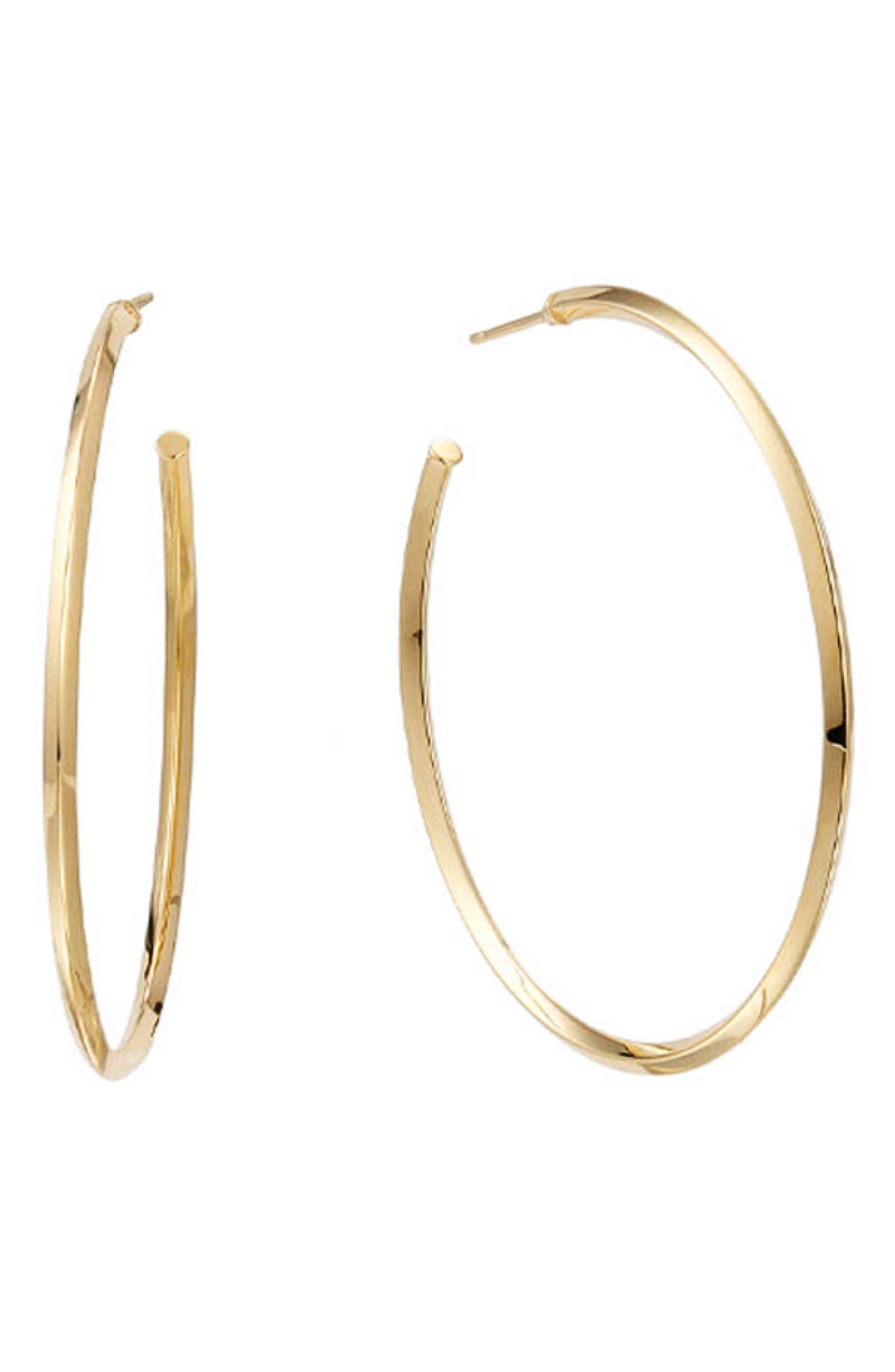 Thin Royale Hoop Earrings