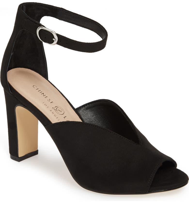 CHINESE LAUNDRY Starley Sandal, Main, color, BLACK SUEDE
