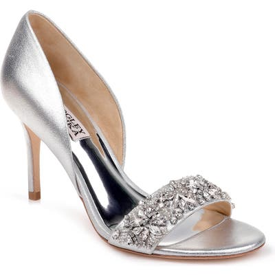 Badgley Mischka Ivy Embellished Sandal- Metallic